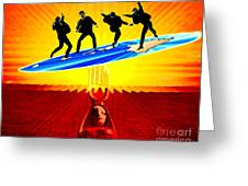 Surfing For Peace Greeting Card
