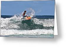 Surfing In Hawaii Greeting Card