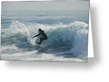 Surfing In The Sun Greeting Card
