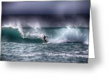 Surfing In The Usa V10 Greeting Card
