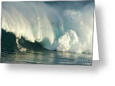 Surfing Jaws 1 Greeting Card