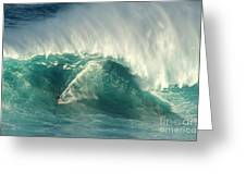 Surfing Jaws 2 Greeting Card