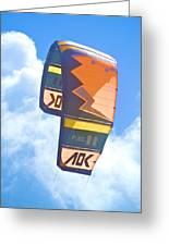 Surfing Kite Greeting Card