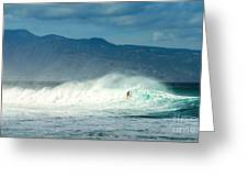 Surfing Light Greeting Card