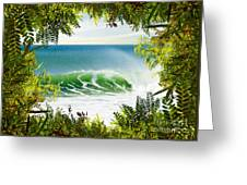 Surfing Paradise Greeting Card