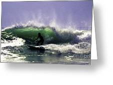 Surfing Pt. Judith Greeting Card