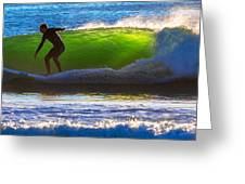 Surfing The Waves 2 Greeting Card