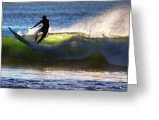 Surfing The Waves Greeting Card
