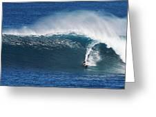 Surfing Waimea Bay Greeting Card
