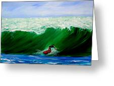 Surf's Up Surfing Wave Ocean Greeting Card