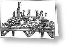 Surgical Instruments, 1567 Greeting Card