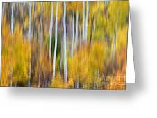 Surreal Aspen Tree Magic Abstract Art Greeting Card