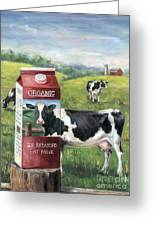 Surreal Cow Greeting Card
