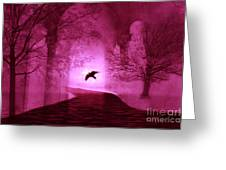 Surreal Fantasy Gothic Raven Crow Nature Greeting Card