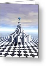 Surreal Fractal Tower Greeting Card