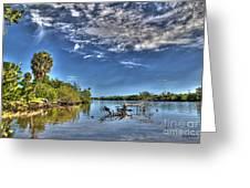 Surreal Intracoastal View Greeting Card