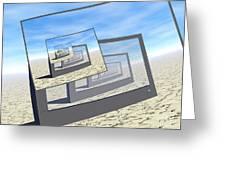 Surreal Monitors Infinite Loop Greeting Card