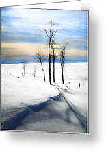 Surreal Snowscape Greeting Card