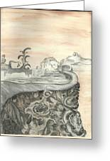 Surreal View Greeting Card by Angela Pelfrey