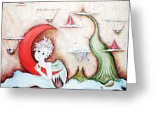Surrealismo Interior Greeting Card by Belen Jauregui