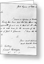 Surrender At Yorktown Greeting Card