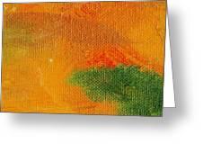 Surrepititous Orange Greeting Card