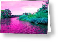 Surrreal Pink Waters Greeting Card