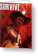 Survive Greeting Card by Steve Goad