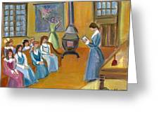 Susan B. Anthony Teaching In Canajoharie Greeting Card