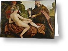 Susanna And The Elders Greeting Card