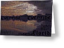 Suset Vs Nightstorm  Greeting Card