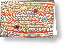 Sushi In Abstract Greeting Card
