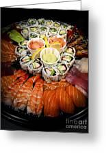 Sushi Tray Greeting Card by Elena Elisseeva