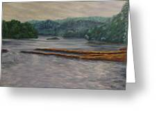 Susquehanna River At Saginaw Pa Greeting Card