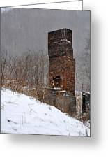 Sutherland Chimney In Winter Number One Greeting Card