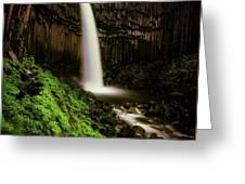 Svartifoss Waterfall, Skaftafell Greeting Card