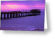 Swakopmund Pier - Namibia Greeting Card