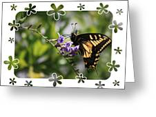 Swallowtail 4 With Flower Framing Greeting Card