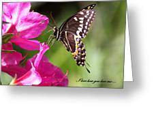 Swallowtail And Azalea - Love Greeting Card