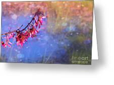 Swamp Maple Bokeh Greeting Card