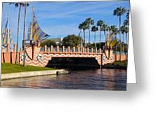 Swan And Dolphin Resort Bridge Greeting Card
