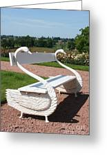 Swan Bench Greeting Card
