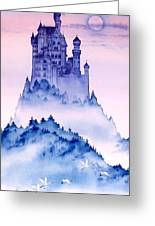 Swan Castle Greeting Card by John YATO