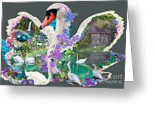 Swan Day Dream Greeting Card