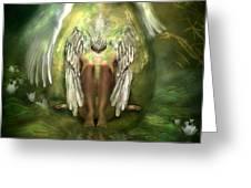 Swan Goddess Greeting Card