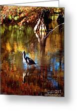Swan Lake Heron II Greeting Card