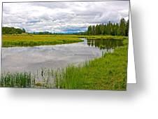 Swan Lake In Grand Teton National Park-wyoming  Greeting Card