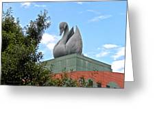 Swan Resort Statue Walt Disney World Greeting Card