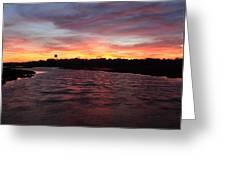 Swan River Sunset Greeting Card
