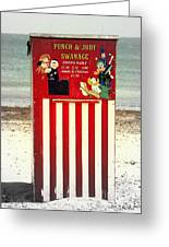 Swanage Punch And Judy Greeting Card